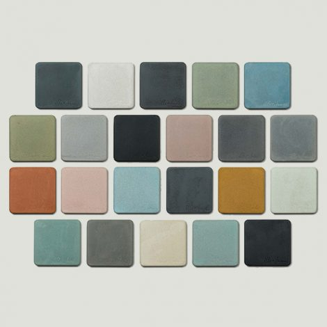 colour swatch for cement hand basins