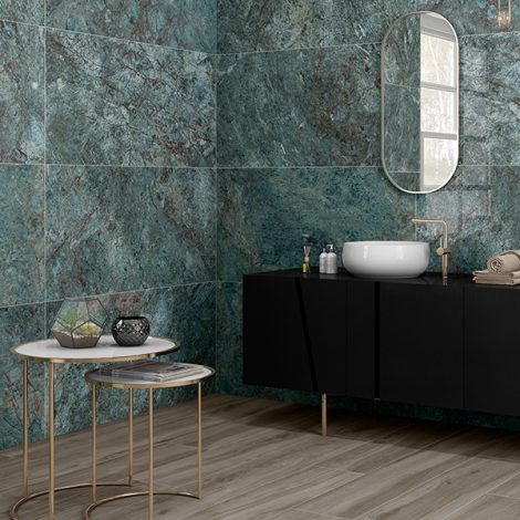 aqua marine marble effect gloss porcelain wall and floor tiles