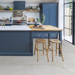 cream kitchen porcelain floor tiles