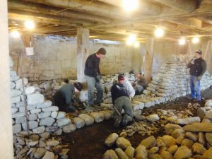 Level 1 dry stone wall workshop laying foundations