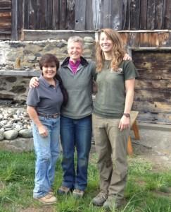 Instructors (left to right) Kim Coggin, Jo Hodson, and volunteer Hillary Dees