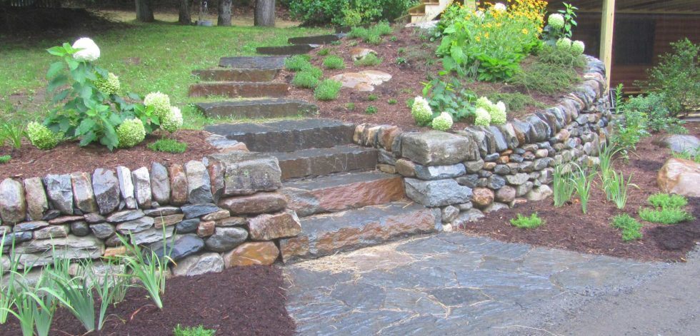 Dry stone stairs built by Brian Post