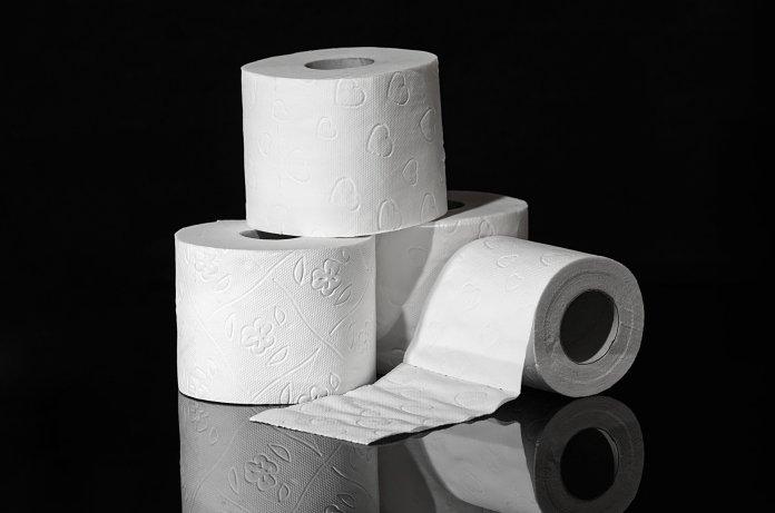 toilet paper, rolls