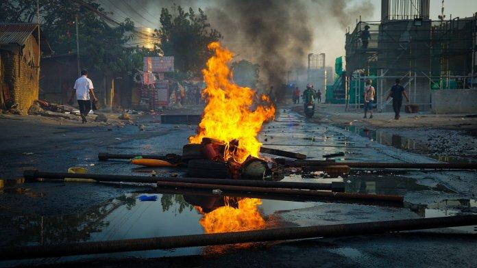 public unrest, riots, fire