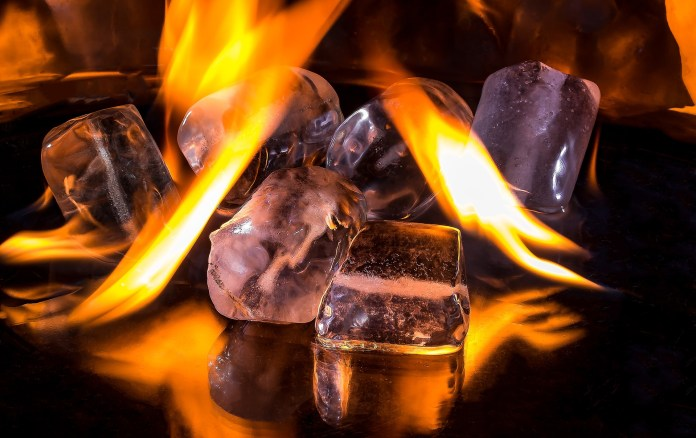 Value Investors, Ice Cubes, Melting, Fire