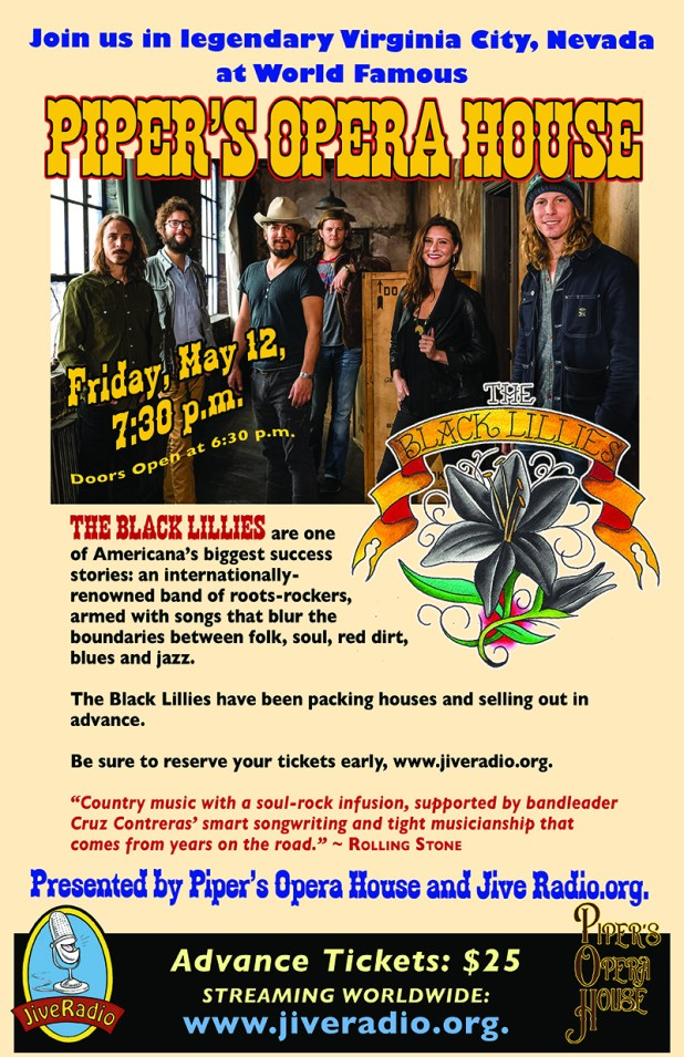 Black Lillies Come To PIpers Opera House in Virginia City