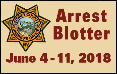 Storey County Arrest Blotter June 4 - 11