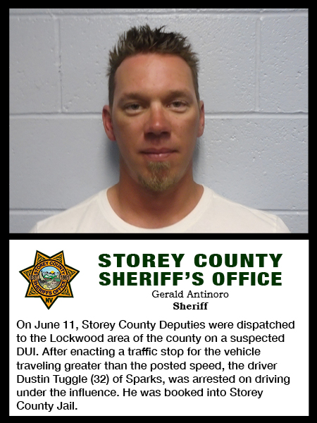 Storey County Arrest Blotter June 4 - 11