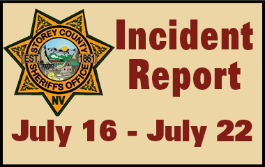 SCSO Incident Report July 16 - 22