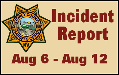 SCSO Incident Report August 6th - 12th