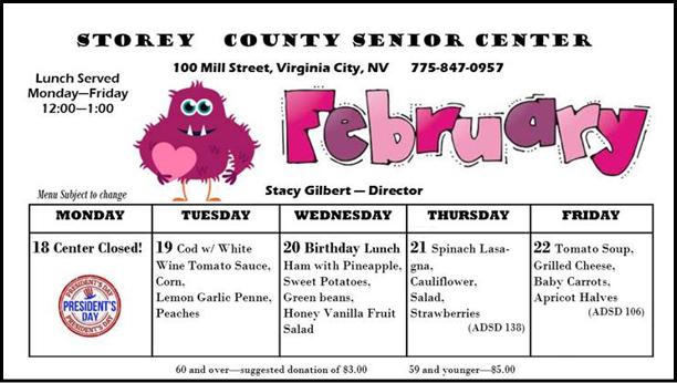 Senior Center Lunch Menu February Week Three
