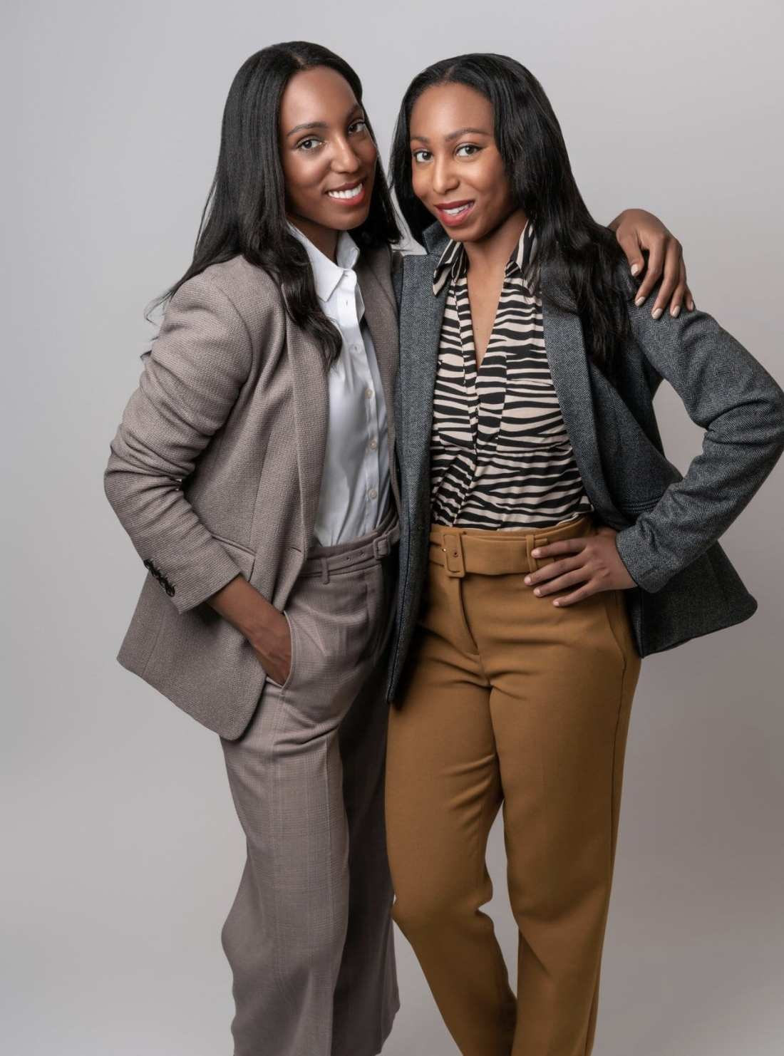 Jilene and Lana Jackson Co-Founders of The Storied Life wearing women' suits for Ann Taylor x The Storied Life We Are Better Together Campaign IMG3