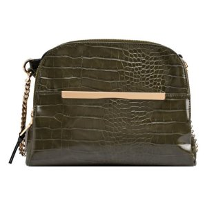 Product image of Walmart Time and Tru Faux Leather Crossbody in Olive Croco