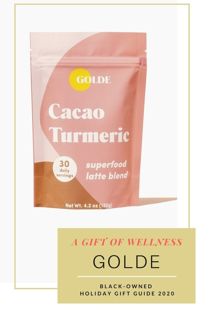 Holiday 2020 product image of Gold Cacao Turmeric superfood latte blend