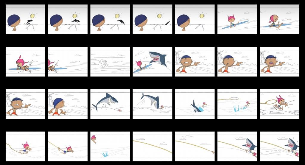 Storyboards and animatics