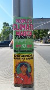 People's Climate March signs, Bronx, NYC