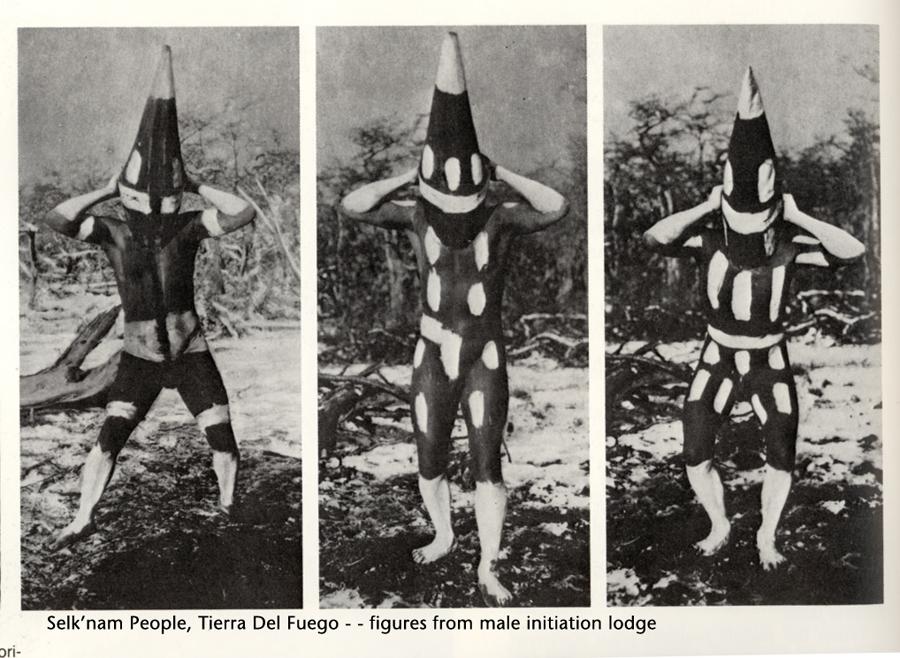 Selknam body art