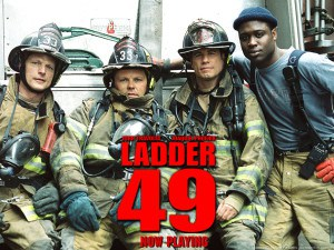 Poor use of flashbacks in the movie Ladder 49
