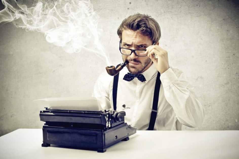 screenwriter at work