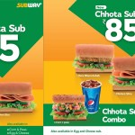 Subway India offering four new chotta sub