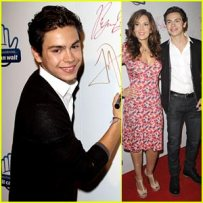 Ryan Beatty, Maria Canals Barrera, Ryan Beatty, and Nolan Gould attend the premiere of 'From One Second to the Next' by acclaimed German director Werner Herzog