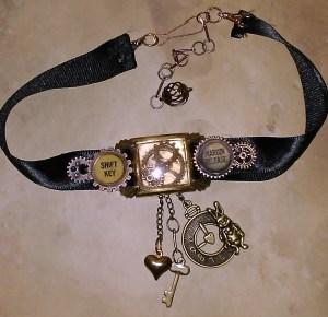 Book Fairy Steampunk Choker Necklace