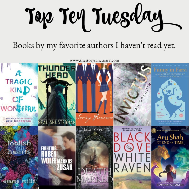 Top Ten Tuesay Books by Favorite Authors