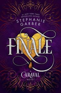 Finale by Stephanie Garber cover shows a golden heart bleeding a teardrop.