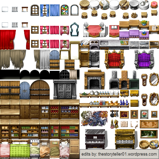 Complete Interior Tileset for RPG Maker VX Ace