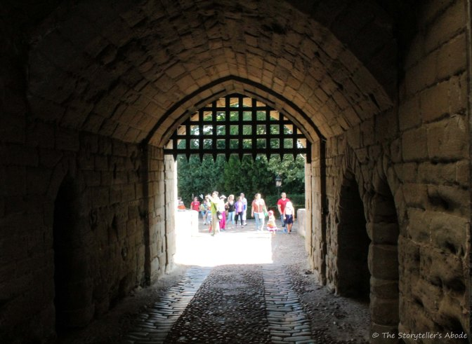 view through gatehouse