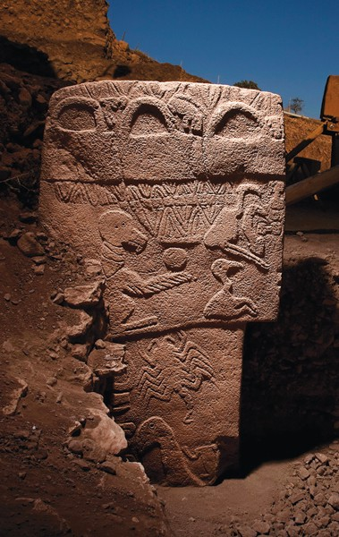 A stone pillar at Göbekli Tepe