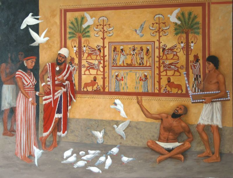 Sumerians hanging out in the city of Mari