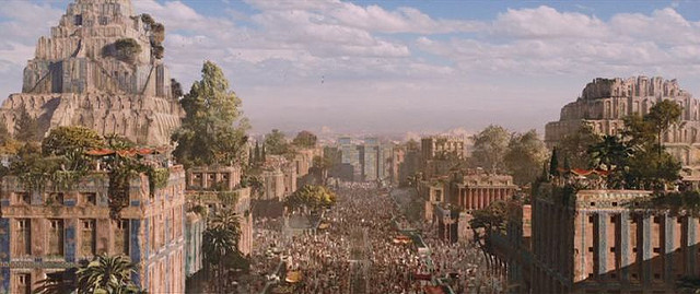 """A crumbling old city of Mesopotamia (from the movie """"Alexander"""")"""