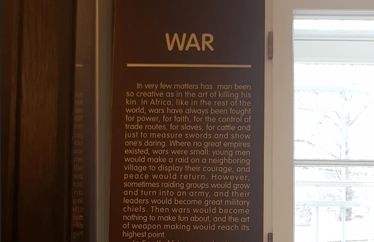A plaque in a museum in St. Petersburg