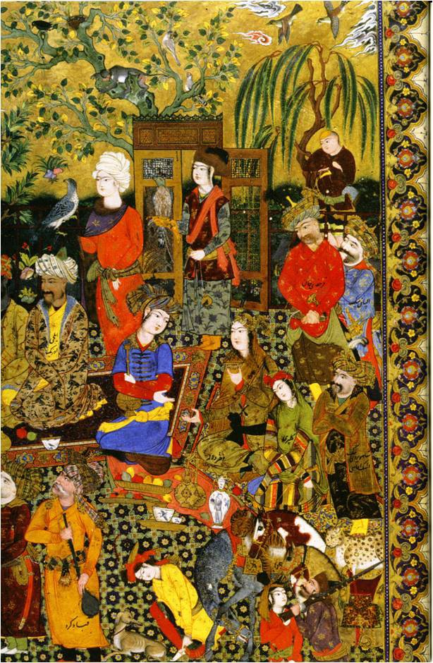A fanciful Persian depiction of the pleasure-garden of Alamūt