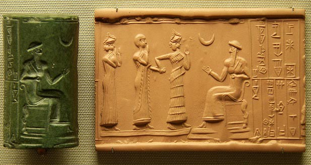 Akkadian cylinder seal, before 1900 BCE