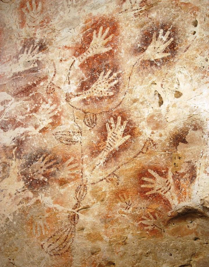 Cave painting in Borneo, Indonesia