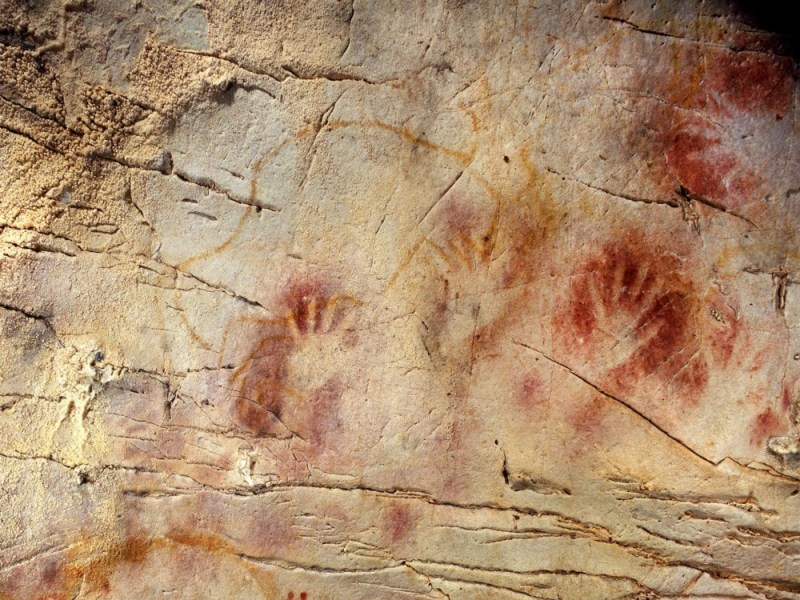 Cave painting in El Castillo Cave, Spain