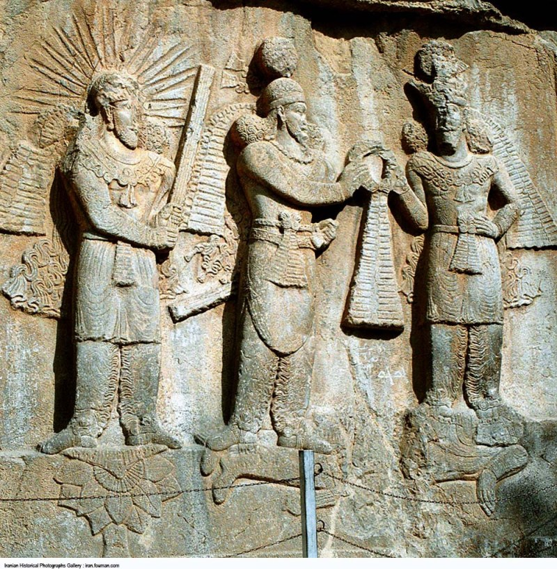 A Sasanian king in full armor, Taq-e Bostan, Iran