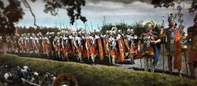"Romans in Britain — image created by the British historical TV channel ""Yesterday"""