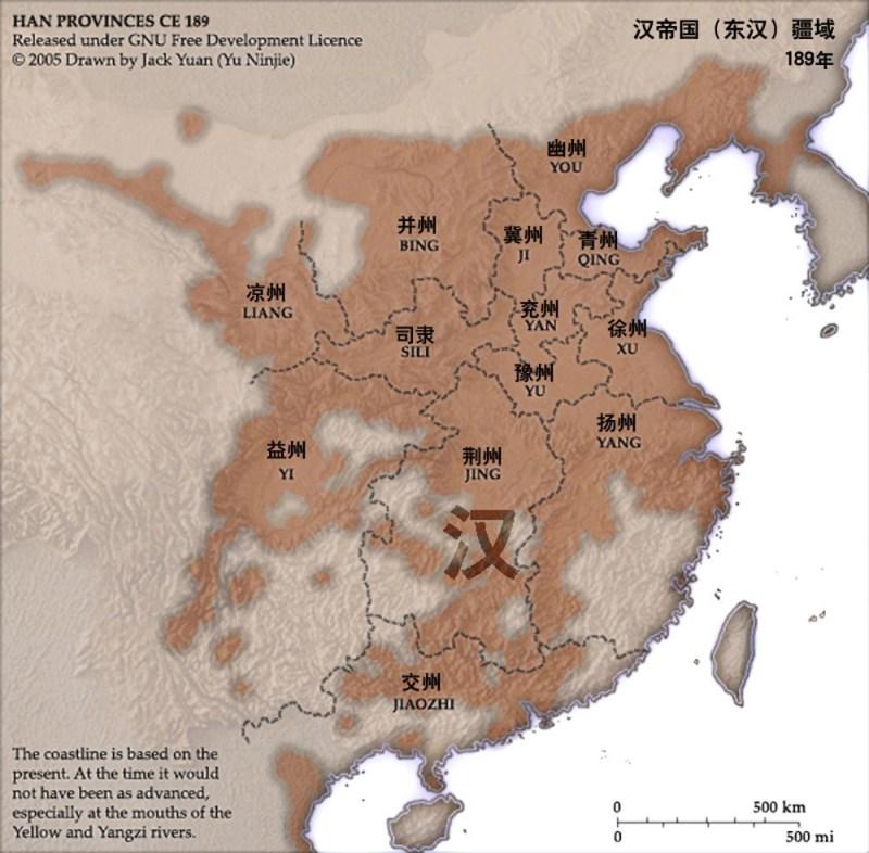 The Han Empire in 189 CE