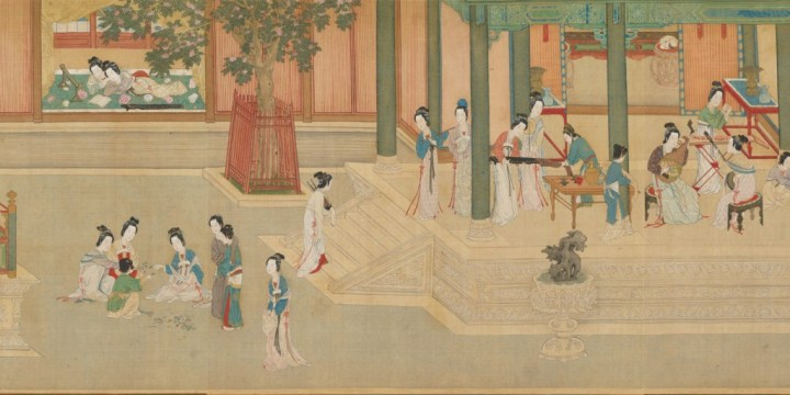 """Spring Morning in the Han Palace,"" a much later painting from 1542 — yet still following the ""Heavenly"" aesthetic!"