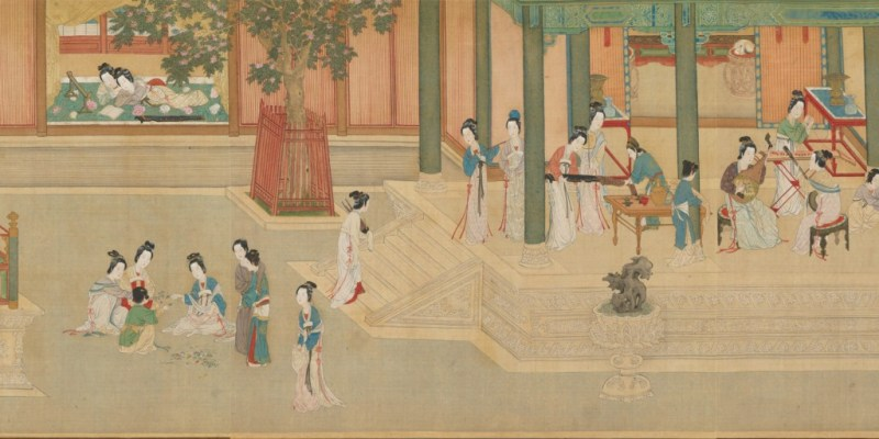 """""""Spring Morning in the Han Palace,"""" a much later painting from 1542—yet still following the """"Heavenly"""" aesthetic!"""