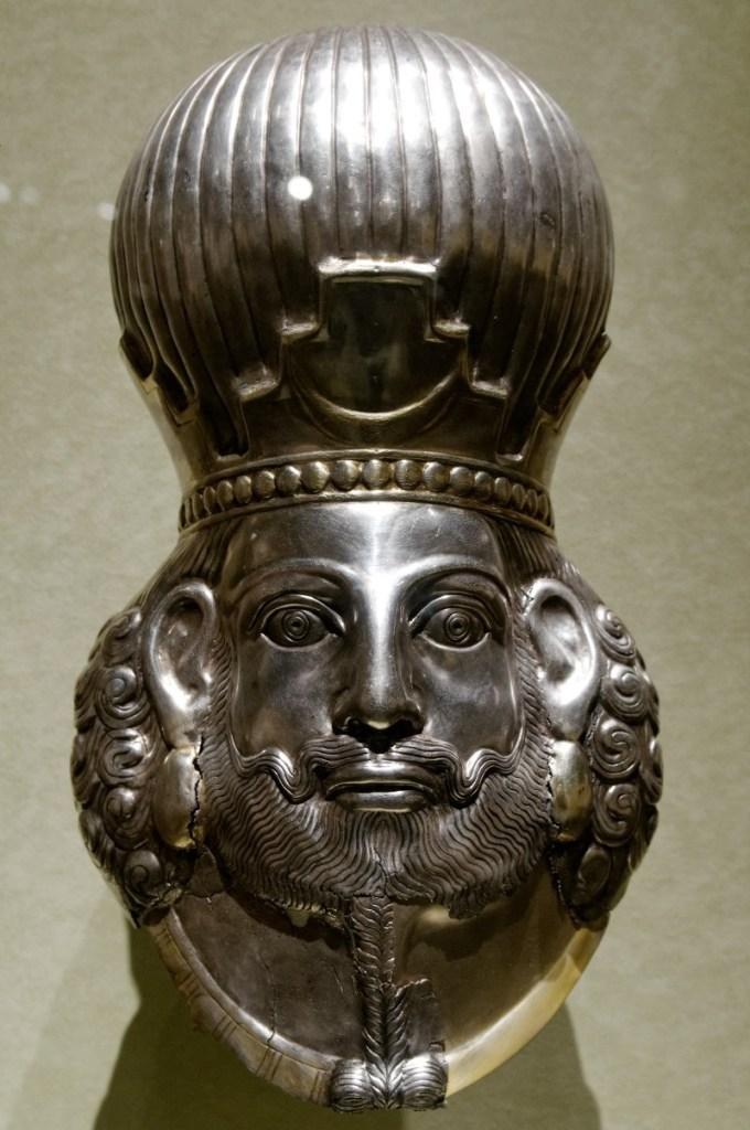 Bust of a Sasanian emperor, probably Khusrau I
