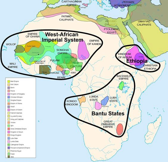 Groups of empires throughout Africa