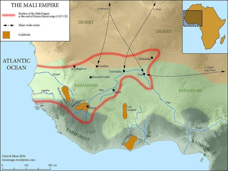 The Mali Empire at its peak, circa 1337 CE