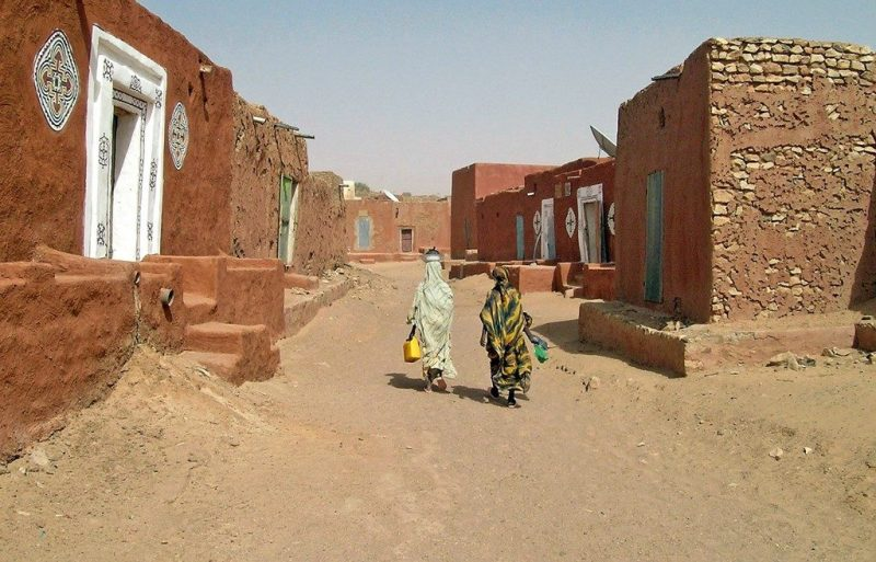 A street in Oualata, Mauritania today