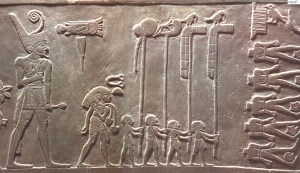 A relief of the pharaoh Narmer, one of the earliest known rulers of Egypt
