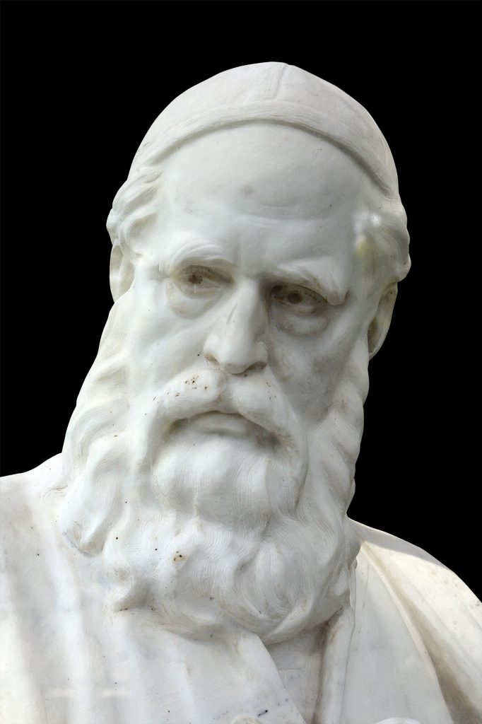 Omar Khayyam, as depicted in a statue in modern Iran.