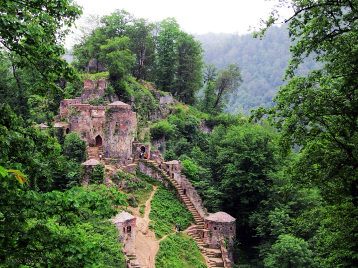 The ruins of Rudkhan castle, in modern Iran.